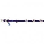 """Dezzie Ошейник """"Цветы"""" синего цвета для кошек 1*28см (5609376), 0,02 кг"""