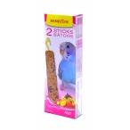 Benelux Лакомые палочки с фруктами для волнистых попугайчиков (Seedsticks budgies Fruit x 2 pcs) 16241, 0,11 кг