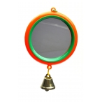 Yami-Yami Зеркало с большим колкольчиком для попугая (5018), 0,027 кг