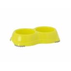 Moderna Двойная миска нескользящая Smarty, 2*330мл, лимонно-желтый, 120 г