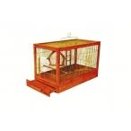 """Yami-Yami Клетка для птиц """"Под старину"""" средняя, деревянная, цвет клён, 56x30x35, 3,2 кг"""
