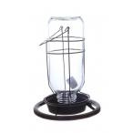 """Benelux Кормушка стеклянная для птиц типа """"Фонтан"""" (для вольера) 1 л, 24х18х2 см, 640 г"""