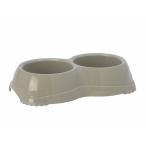 Moderna Двойная миска нескользящая Smarty, 2*645мл, теплый серый, 240 г