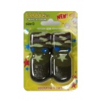 Барбоски Носки для Прогулок с латексным покрытием, на завязках, хаки, 4шт. 152685, 0,05 кг