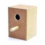Benelux Деревянное гнездо-домик для длиннохвостых попугаев 16.5*16*25.5 см, 870 г