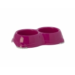 Moderna Двойная миска нескользящая Smarty, 2*330мл, ярко-розовый, 120 г