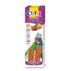 Cliffi Лакомства для волнистых попугаев и экзотических птиц: палочки с лесными ягодами и медом Selection Berry, 60 г