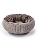 """Curver Лежак для животных с подушкой """"Вязанный комфорт"""", Д 52 x 20,2 см, дымчато-бежевый, 1,6 кг"""