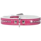 Hunter Smart ошейник для собак Modern Art Luxus 27/11 (20-23,5 см) кожзам 1 ряд страз ярко-розовый