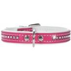 Hunter Smart ошейник для собак Modern Art Luxus 32/11 (24-28,5 см) кожзам 1 ряд страз ярко-розовый