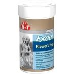 8in1 Excel Пивные дрожжи для кошек и собак 1430 таб.