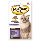 """Мнямс хрустящие подушечки для кошек с говядиной """"Выведение шерсти"""" 60 г"""