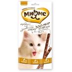 Мнямс лакомые палочки 13,5 см для кошек с цыпленком и уткой 3х5 г