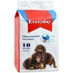 EVERYDAY впитывающие пеленки для животных ГЕЛЕВЫЕ 60 х 60 см, 10 шт
