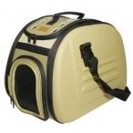 Ibbiyaya складная сумка-переноска для собак и кошек до 6 кг бежевая