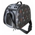 Ibbiyaya складная сумка-переноска для собак и кошек до 6 кг серая в цветочек