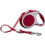 Flexi рулетка VARIO L (до 60 кг) 5 м лента красная