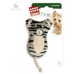 GiGwi игрушка для собак Кот с 2-мя пищалками 9 см