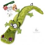 GiGwi игрушка для собак Крокодил с 4-мя пищалками 38 см
