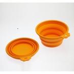 SuperDesign миска силиконовая складная средняя 760 мл оранжевая