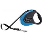 Flexi рулетка Collection S (до 12 кг) 3 м лента черная/голубая