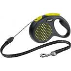 Flexi рулетка Design М (до 20 кг) 5 м трос черный/желтый горох