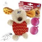 GiGwi игрушка для собак Собачка 13 см с пищалкой