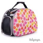 Ibbiyaya складная сумка-переноска для собак и кошек до 6 кг розовые маки