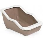 MPS туалет-лоток NETTA Open 54х39х29h см с рамкой коричневый