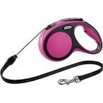 flexi рулетка New Comfort М (до 20 кг) трос 5 м черный/розовый