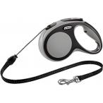 flexi рулетка New Comfort М (до 20 кг) трос 5 м черный/серый