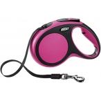 flexi рулетка New Comfort М (до 25 кг) лента 5 м черный/розовый