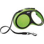 flexi рулетка New Comfort М (до 25 кг) лента 5 м черный/зеленый