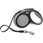 flexi рулетка New Comfort S (до 15 кг) лента 5 м черный/серый