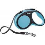 flexi рулетка New Comfort S (до 15 кг) лента 5 м черный/синий