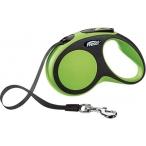 flexi рулетка New Comfort S (до 15 кг) лента 5 м черный/зеленый