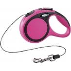 flexi рулетка New Comfort XS (до 8 кг) трос 3 м черный/розовый