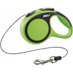 flexi рулетка New Comfort XS (до 8 кг) трос 3 м черный/зеленый