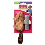 """Kong игрушка для кошек """"Бобер"""" плюш с тубом кошачьей мяты"""