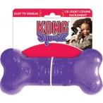 Kong игрушка для собак Сквиз Косточка средняя резиновая с пищалкой