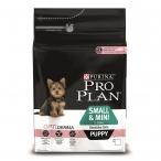 Корм Purina Pro Plan для щенков малых и карликовых пород с чуствительной кожей: лосось и рис Small&Mini Puppy Sensitive Skin Salmon, 700 г