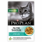 Корм Purina Pro Plan NutriSavour Sterilised feline with Ocean Fish in gravy в соусе для кастрированных кошек с океанической рыбой, 0,085 кг