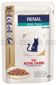 Корм Royal Canin Renal Feline with tuna, pauch, 0,085 кг